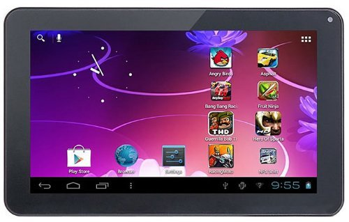 iRulu 9 Inch Playbook 8GB Inch Allwinner A13 5-Point Capacitive Multi-Touchscreen Widescreen Android 4.0 MID Tablet PC 1.2GHZ 512MB Wifi and 3G, TF Card Camera