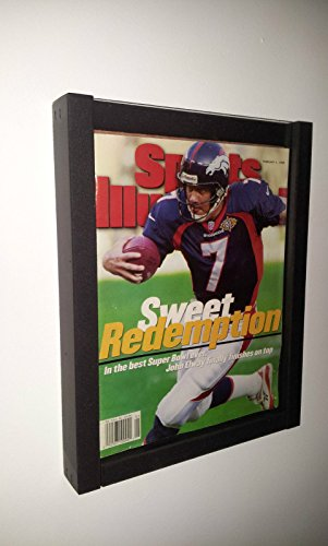 DisplayGifts® Magazine Display Case Shadow Box Frame for Sports Illustrated Magazine or Comic Book BH02-BL