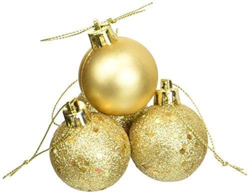 Vickerman 4-Finish Ornament Set, Includes 96 Per Box, 1.6-Inch, Luxe Gold