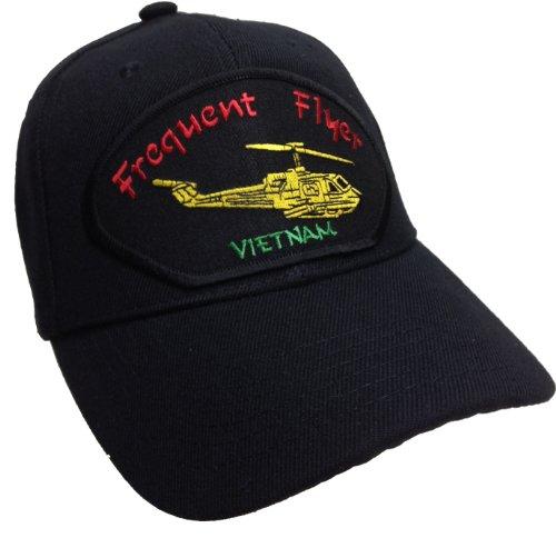 Frequent Flyer Vietnam hat Black Ball Cap UH-1 Huey Pilot