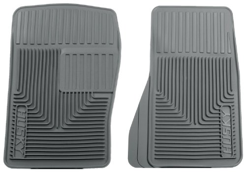 Husky Liners 51072 Semi-Custom Fit Heavy Duty Rubber Front Floor Mat - Pack of 2, Grey