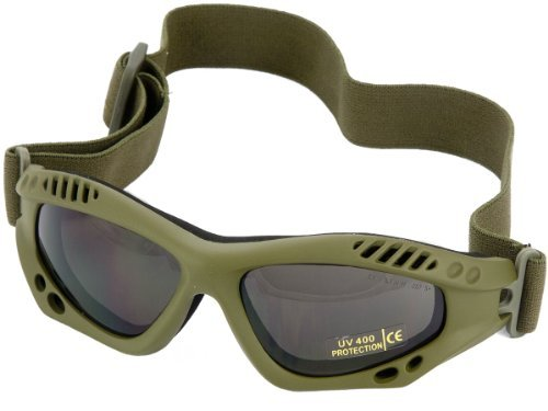 Tactical Commando Air Pro Army Goggles Eye Protection Airsoft Olive