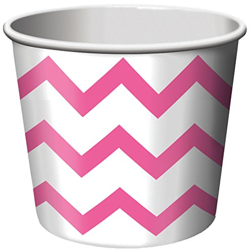 Creative Converting 6 Count Treat Cups, Chevron Candy Pink