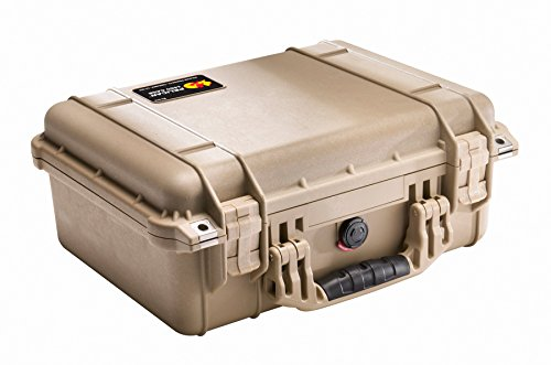 Pelican 1450 Case with Foam for Camera (Desert Tan)