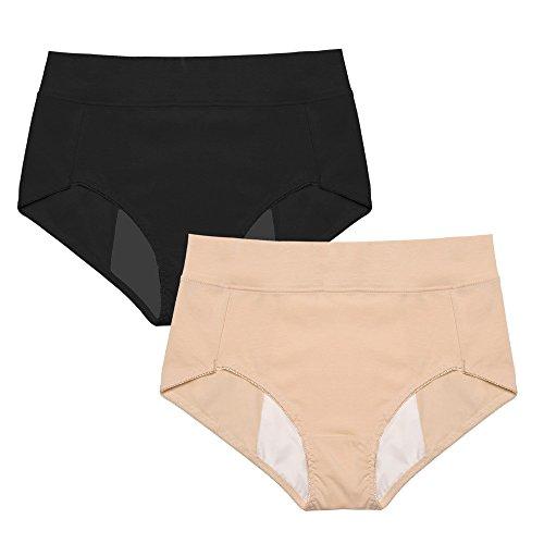 Intimate Portal Women Cotton Leak Proof Protective Underwear Multi Pack