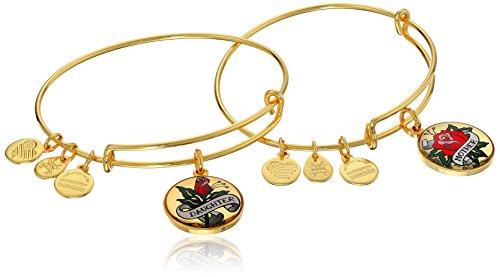 Alex and Ani Unbreakable Bond Set Rafaelian Yellow Gold Finish Bangle Bracelet