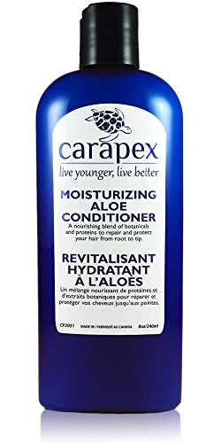 Carapex Aloe Vera Moisturizing Conditioner, for Color Treated Hair and Damaged Hair with Natural Proteins, Hemp Oil, Coconut Oil, Sulfate Free, Paraben Free, Silicon Free, Unscented, Promotes Volume, for Sensitive Skin Frizzy Hair, Coarse Hair, Fine Hair 8 oz