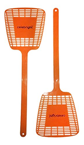 Fly Swatter - Orange - Set of 2 Swatters - Manual not Electrical - 30 Days Guarantee