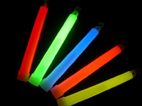 200 Glow With Us Brand 6ASSORTED Glow Sticks Bulk Wholesale Pack with FREE 100 Assorted Glow Bracelets and