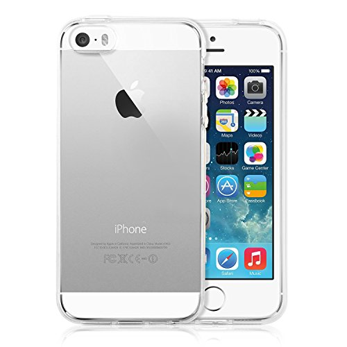 iPhone SE Case, TechRise Apple iPhone SE 5 5S Ultra Light Weight Shock-Absorption and Anti-Scratch Bump Cover Case (Crystal Clear)