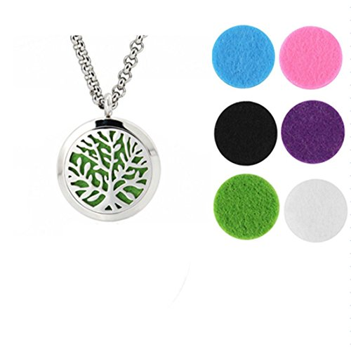 NIANPU Fashion Essential Oil Diffuser Perfume Box 316L Stainless Steel Aromatherapy Pendant Necklace