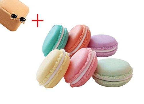 6 PCS Mini Earphone SD Card Macarons Bag Storage Box colorful organizer