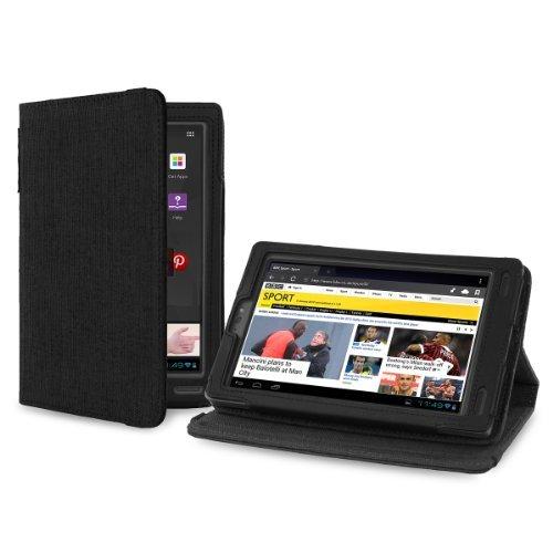 Cover-Up Kobo Arc (7) eReader Version Stand Natural Hemp Case - Carbon Black (Will Not Fit Kobo Arc 7 / Kobo Arc 7 HD)