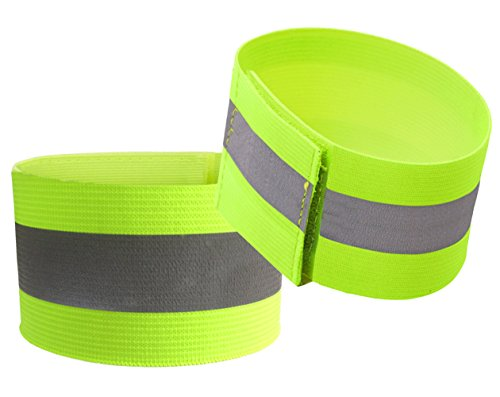 Attmu High Visibility Reflective Wristbands, Reflective Ankle Bands, High Visibility and Safety for Jogging, Walking, Cycling - Works as Wristbands, Armband, Leg Straps