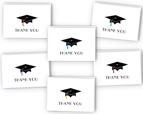 Graduation Cap Thank You Cards - 24 Cards & Envelopes