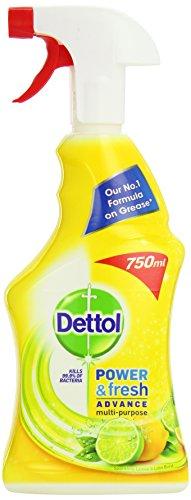 Dettol Power and Fresh Spray 750 ml - Lemon and Lime, Pack of 3