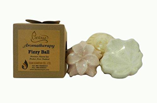 Bath Bomb Gift Set, 3 Pcs of Large Bath Fizzies Lush, Luxurious and Fizzy Healing Soak Bombs with Essential Oils, Thai Lotus, Thai Jasmine, Thai Lemongrass, Moisturizing & Perfect Gift