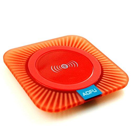 Wireless Charger, Aofu Wireless Charging Pad Station(orange)