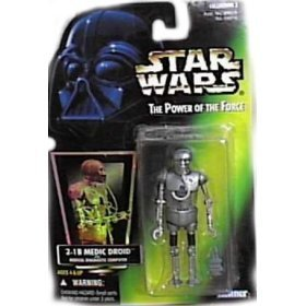Star Wars Power of the Force Green Card 2-1B Medic Droid with Medical Diagnostic Computer by Kenner