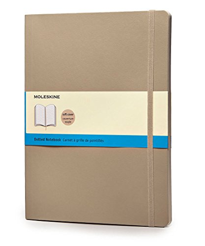 Moleskine Classic Colored Notebook, Extra Large, Dotted, Khaki Beige, Soft Cover (7.5 x 10)
