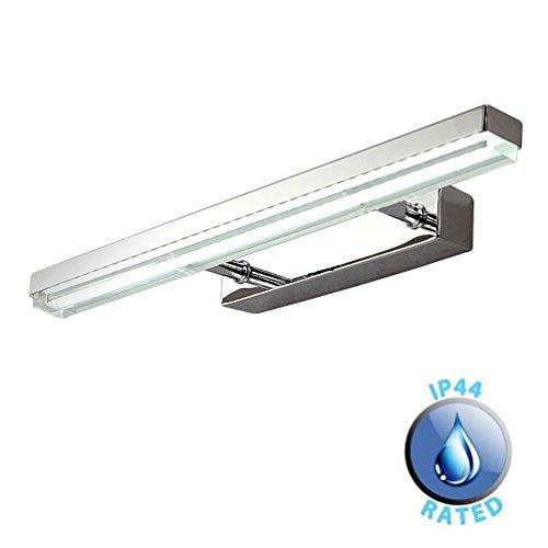 Dailyart 10W Cool White LED Tube Bathroom Vanity Light, 22.63*4.33*1.57 inch, Stainless Steel + Acrylic