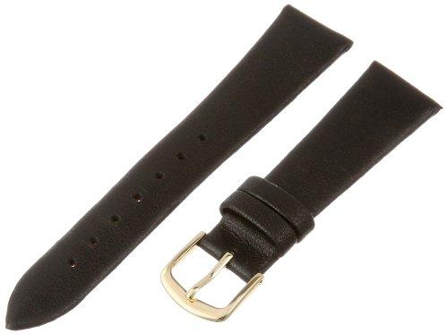Hadley-Roma Women's LSL832RA-180 18-mm Black Genuine Lambskin Leather Watch Strap