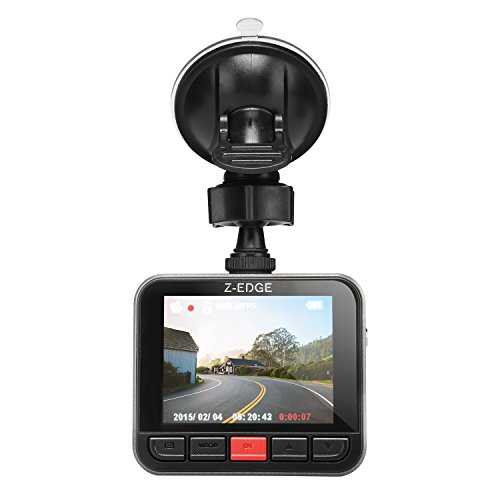 Z-Edge Dash Cam Car DVR Dashboard Camera, Full HD 2304x1296, 150 Degree Wide Angle with G-sensor, WDR Superior Quality Night Vision, 6-Glass Lenses, 2.7 LCD and 16GB MicroSD Card Included