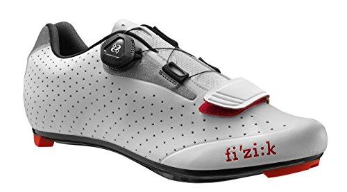 Fizik R5 UOMO BOA Road Cycling Shoes, White/Light Grey, Size 40.5  White/Light Grey