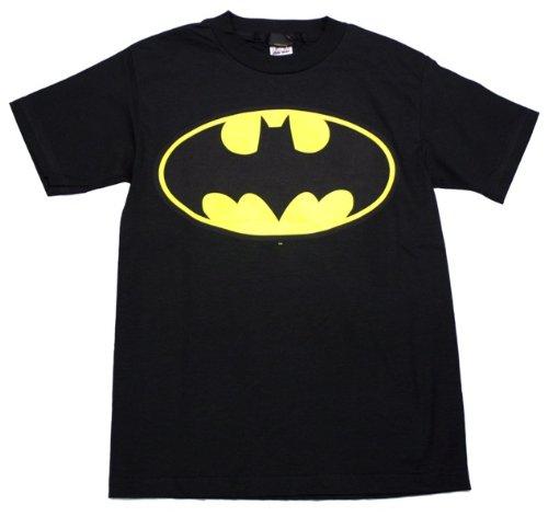 Batman Classic Logo Adult T-Shirt, XX-Large in Black