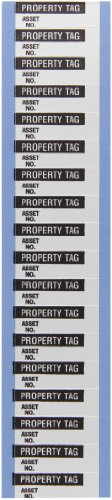 Brady WOAF-29-VP Aluminum Foil Tape Inventory Control Labels , Black On Silver,  1.500 x 0.500  (38.100 Mm x 12.700 Mm),  Legend Property Tag  (18 Per Card,  5 Cards Per Package)