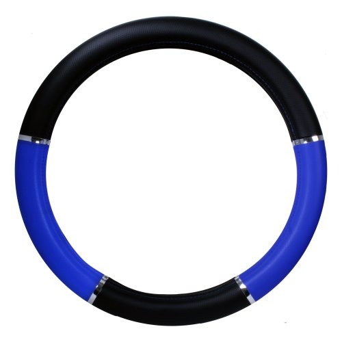 Grand General 54013 Black/Blue 18 Deluxe Steering Wheel Cover