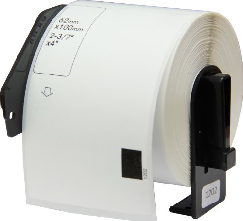 OfficeSmart 2-3/7 x 4 Inches Shipping Labels, 300 Labels Per Roll, Compatible with the following Brother P-Touch Label Printers (DK1202F)
