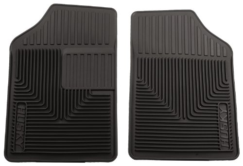 Husky Liners 51051 Semi-Custom Fit Heavy Duty Rubber Front Floor Mat - Pack of 2, Black