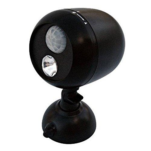 Dorcy International Dorcy 41-1072 180-Degree Wireless Motion Sensing LED Flood Light, 80-Lumens, Black Finish, Black