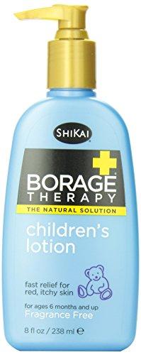 ShiKai Borage Therapy, Children's Lotion, Fragrance Free, 8-Ounce