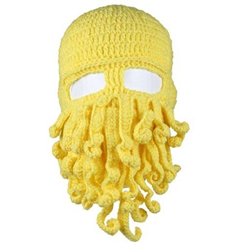 Dealzip Inc® Octopus Beanie Hat For Men Winter Warm Mask Skiing Biking Costume Squid Mask