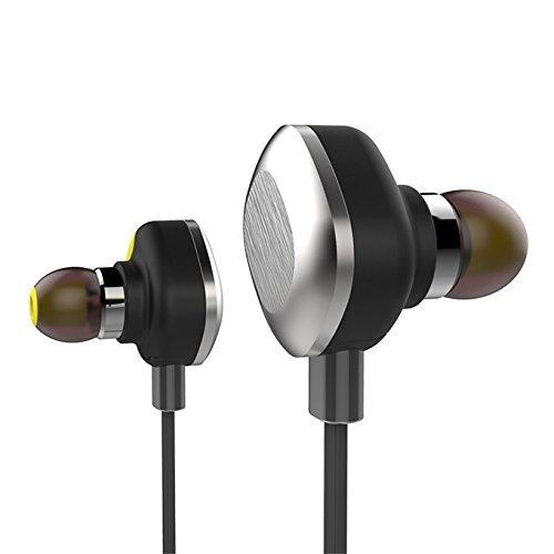 PowerLead Uspo STH001 U5 Intelligent Smart Bluetooth Sports Headphone Headset Earphone IPX7 Waterproof Earbuds Wireless Headsets for Iphone Samsung HTC(Black)