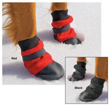 MUTTLUKS HOTT DOGGERS 4 ECONOMICAL DOG BOOTS ? RED ? LIGHT WEIGHT TRACTION ? ALL SIZES