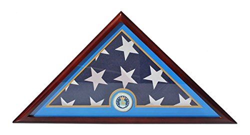 DisplayGifts Air Force Flag Display Case Box, For Burial Funeral Memorial FC89
