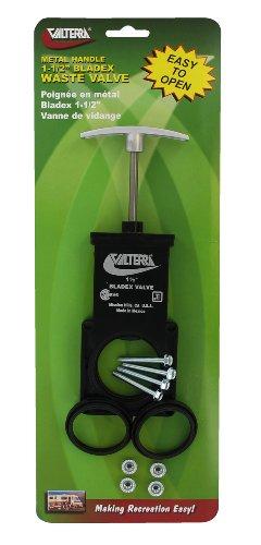 Valterra T1001VPM Bladex 1-1/2 Waste Valve Body with Metal Handle