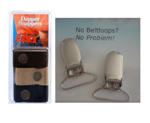 Dapper Snappers Baby & Toddler Belt (Boys 3 Pack with Clips)