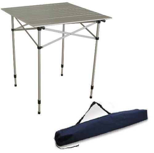 Ming's Mark TA-8115 Aluminum Roll-Up Top Table with Adjustable Legs and Carrying Bag