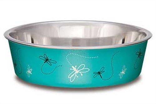 Loving Pets Dragonfly Bella Bowl for Dogs, Medium, 1-Quart, Turquoise