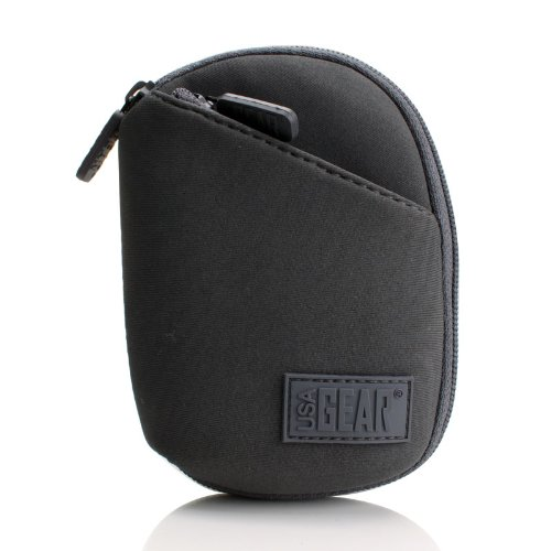 Neoprene Carrying Case for Sony, Olympus, RCA, Philips, Coby and More Flash Memory Digital Voice Recorders- Includes Cleaning Kit