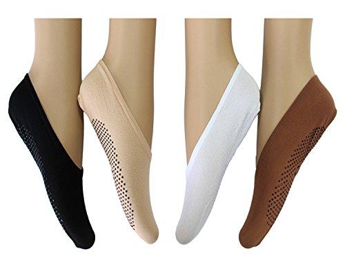 12 Pairs Women's Fashion Liner No-show Low-cut Socks Non-slip Grip