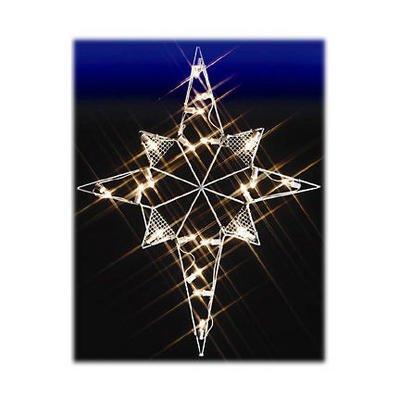 39 Bethlehem Star Nativity Silhouette Lighted Wire Frame Christmas Yard Art