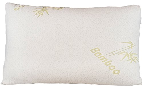 Bamboo Pillow - Shredded Memory Foam - Stay Cool Removable Cover With Zipper - Hotel Quality Hypoallergenic Pillow Relieves Snoring, Insomnia, Asthma, Neck Pain, TMJ, and Migraines (King)