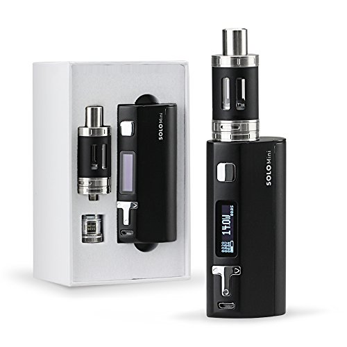 Q5 80W E Cigarette Variable Wattage | Easy Top Refill Clearmoizer Tank | TC Temperature Control Mod Kit | 0.5 ohm Sub Ohm Box Mod Electronic Cigarette | Battery not Included | No Nicotine | Black