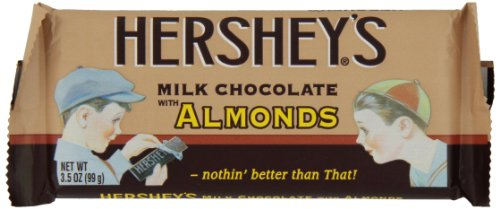 HERSHEY'S Milk Chocolate with Almonds Bar (Nostalgia, 3.5-Ounce Bars, Pack of 24)