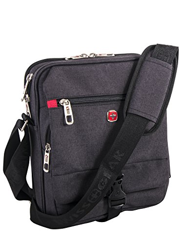 Swiss Gear Multi-Compartment 10-Inch Tablet Travel Organizer, Charcoal, International Carry-on